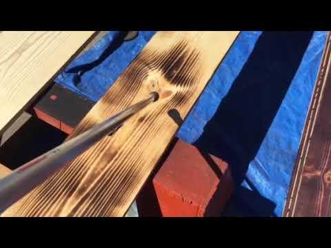 Shou Sugi Ban Wood Burning 4 DIY Camper Utility Trailer