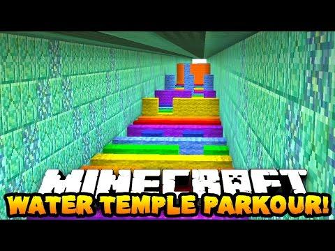 Minecraft WATER TEMPLE PARKOUR! (Timed Parkour Challenge)   w/PrestonPlayz
