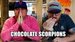 Barstool Sports Snacks on Scorpions Dipped in Chocolate