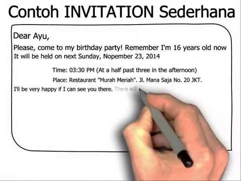 Contoh invitation letter birthday party formal cogimbo invitation for birthday party and stopboris Images