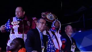 Champ Jamel Herring Enters Ring Accompanied By Fellow Marines