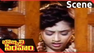 Bobbili Simham Movie || Meena Remove Her Dress   || Balakrishna, Meena, Roja