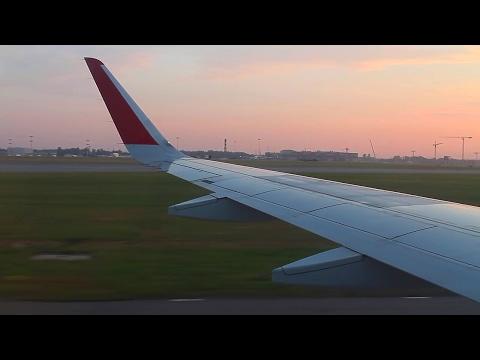 Aeroflot A320 Sharklets Tbilisi-Moscow Sheremetyevo Safety, Takeoff, Inflight, Sunrise Landing
