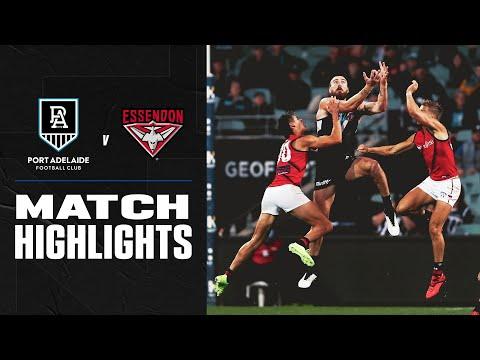 Port Adelaide V Essendon Highlights   Round 17, 2020   AFL