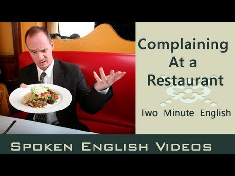 Complaining at a Restaurant - Food English Conversation - English lesson about food Mp3