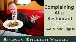 Complaining at a Restaurant - Food English Conversation - English lesson about food