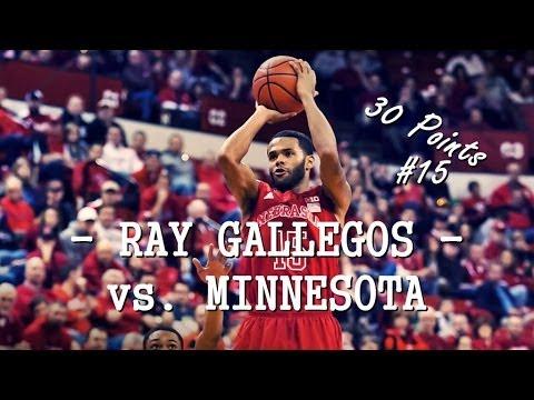 Ray Gallegos vs. Minnesota scores 30