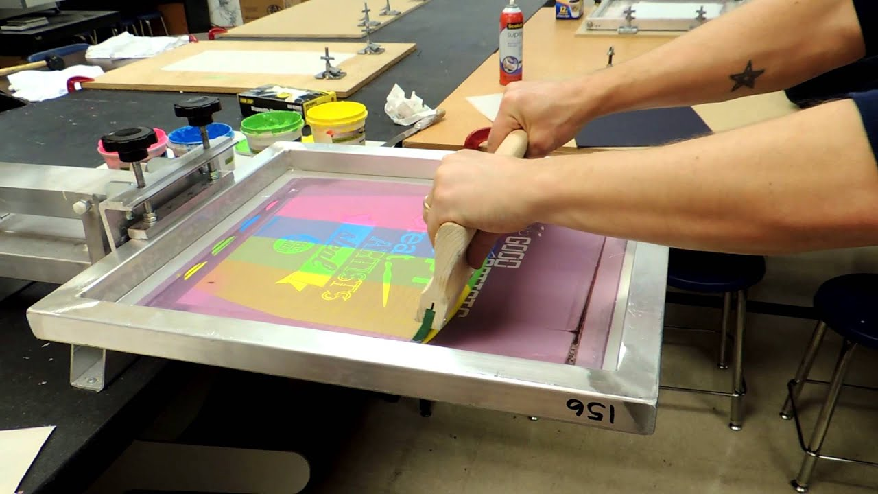 Split Fountain Screen Printing Youtube