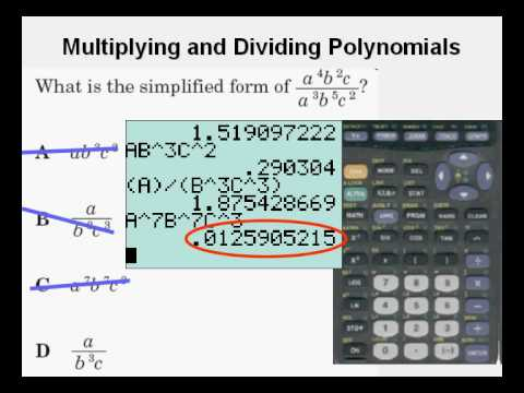 Test Taking Tricks 3 Multiplying and Dividing Polynomials - YouTube