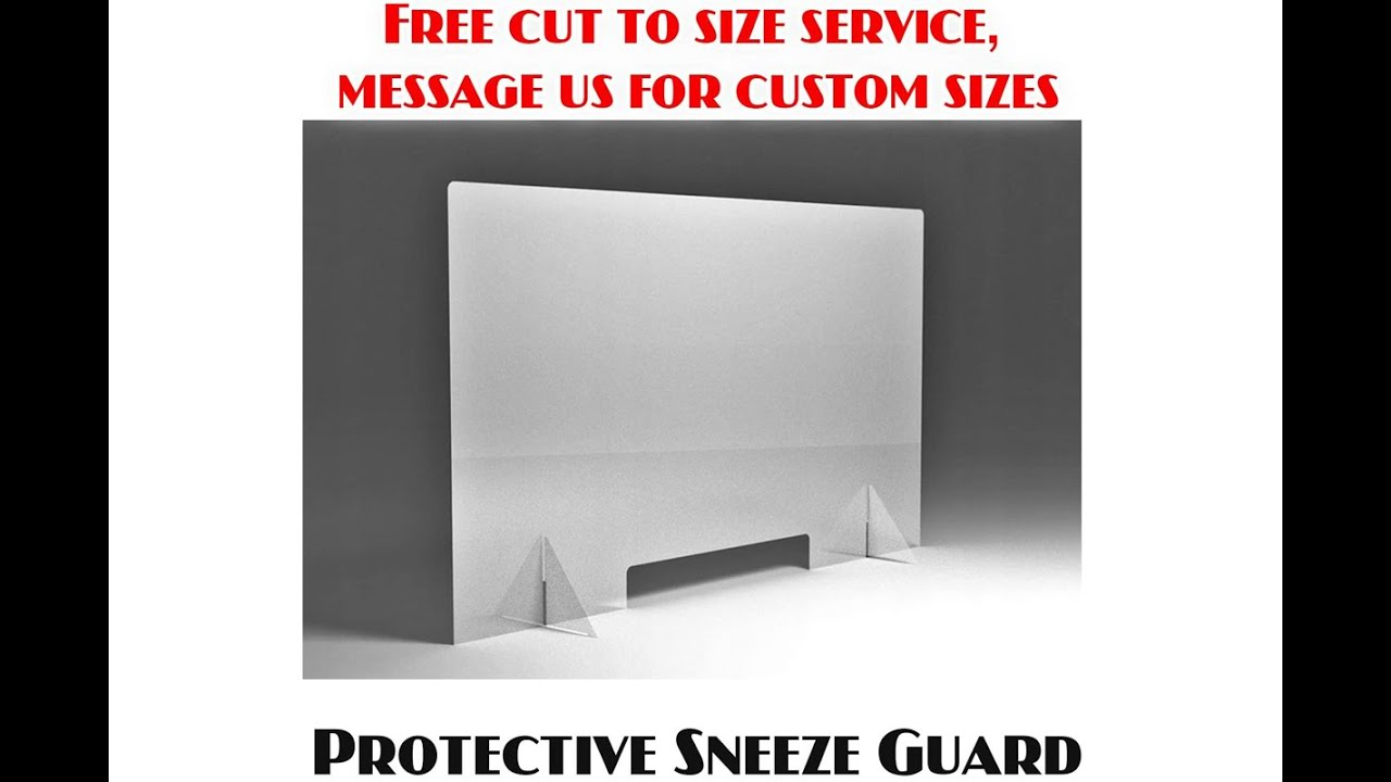 Sneeze Guard Screen Cough Protection Shop Checkout Counter Perspex Virus Shield