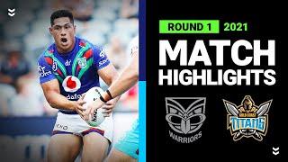 Warriors v Titans Match Highlights   Round 1 2021   Telstra Premiership   NRL