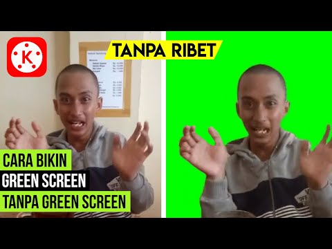 In this tutorial video, namely, How to make a GREEN SCREEN Without Cloth video on a smartphone using.