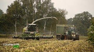 Lohnunternehmen Henke häckselt Mais für eine Biogasanlage in Niedersachsen [HD]