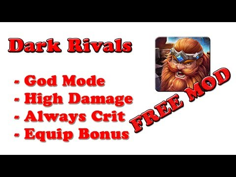 FREE! Dark Rivals Ver. 1.3.1 MOD APK | God-Mode | High Damage | High Equip Reward| Always Crit |