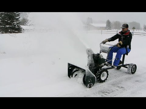 Snow Blower Sulky Youtube