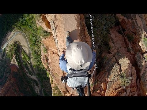 Straight Down Camera: Angels Landing, Zion National Park