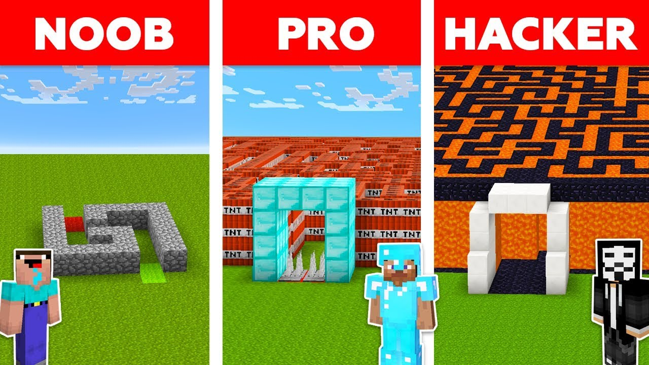 Minecraft NOOB vs PRO vs HACKER : SECRET MAZE TO FAMILY CHALLENGE in minecraft / Animation