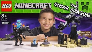 lego minecraft set 21117 the ender dragon unboxing review time lapse build