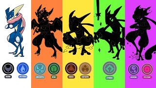 Greninja Type Swap: Dragon + Bug, Ground + Rock, Poison + Psychic, Steel | Requests #13