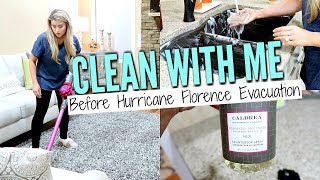 AFTER DARK CLEAN WITH ME BEFORE HURRICANE FLORENCE EVACUATION