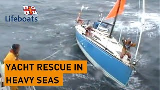Penlee lifeboat rescues yacht in bad weather