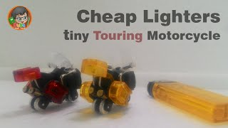 How to make Cheap Lighters into a tiny Motorcycle (Touring Motorcycle) | Limbah Korek Gas