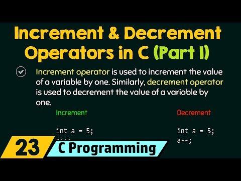 Increment & Decrement Operators in C (Part 1)