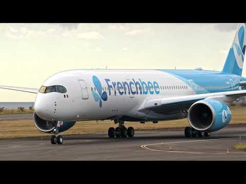 French bee - Revivez le première atterrissage du F-HREN à la Réunion