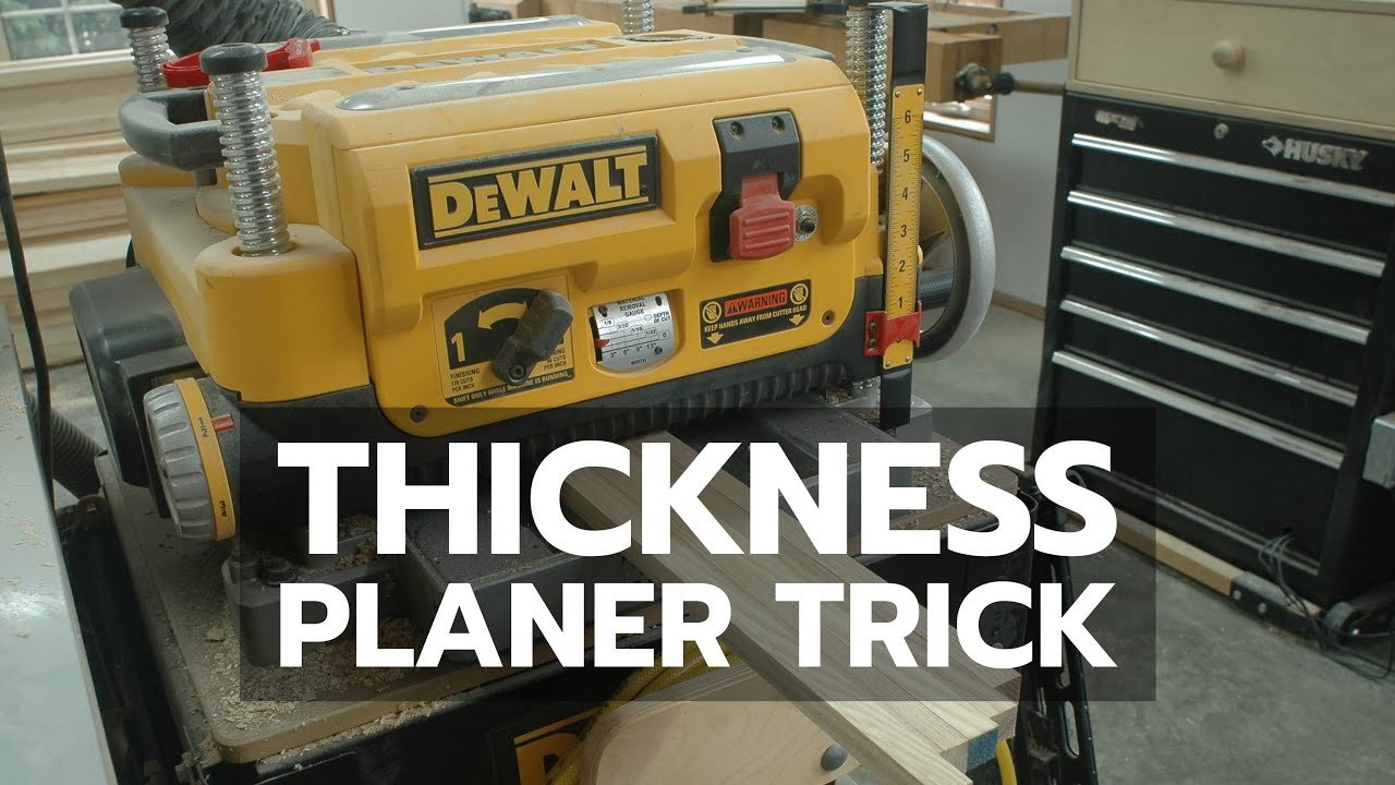 THICKNESS PLANER TRICK: A Simple, Powerful Woodworking Tip