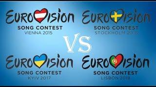 Eurovision 2015 vs 2016 vs 2017 vs 2018: The battle
