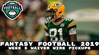 2019 Fantasy Football- Week 5 Waiver Wire Adds (Players to Stash)