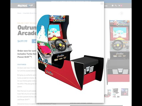Arcade 1UP Arcade Cabinet - OUTRUN w. Wheel, Shifter, Pedals & Seat - FIRST LOOK from vypermajik