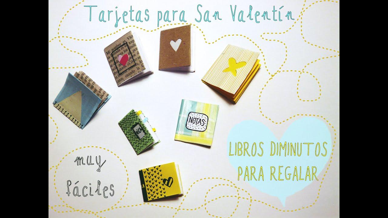 Tarjetas Con Forma De Libro Diminuto Manualidades San Valentín 2015