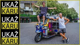 4K | TOMÁŠ VEJMOLA | SÁM NA TUK-TUKU Z BANGKOKU DO ČR! 13 000 km a 365 dní