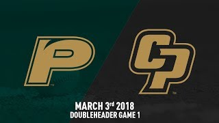 Cal Poly vs. Pacific, Baseball Highlights -- March 3, 2018 Doubleheader Game 1