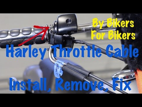 Harley Davidson Throttle Cable Install, Remove, Replace, Repair | Motorcycle Biker Podcast
