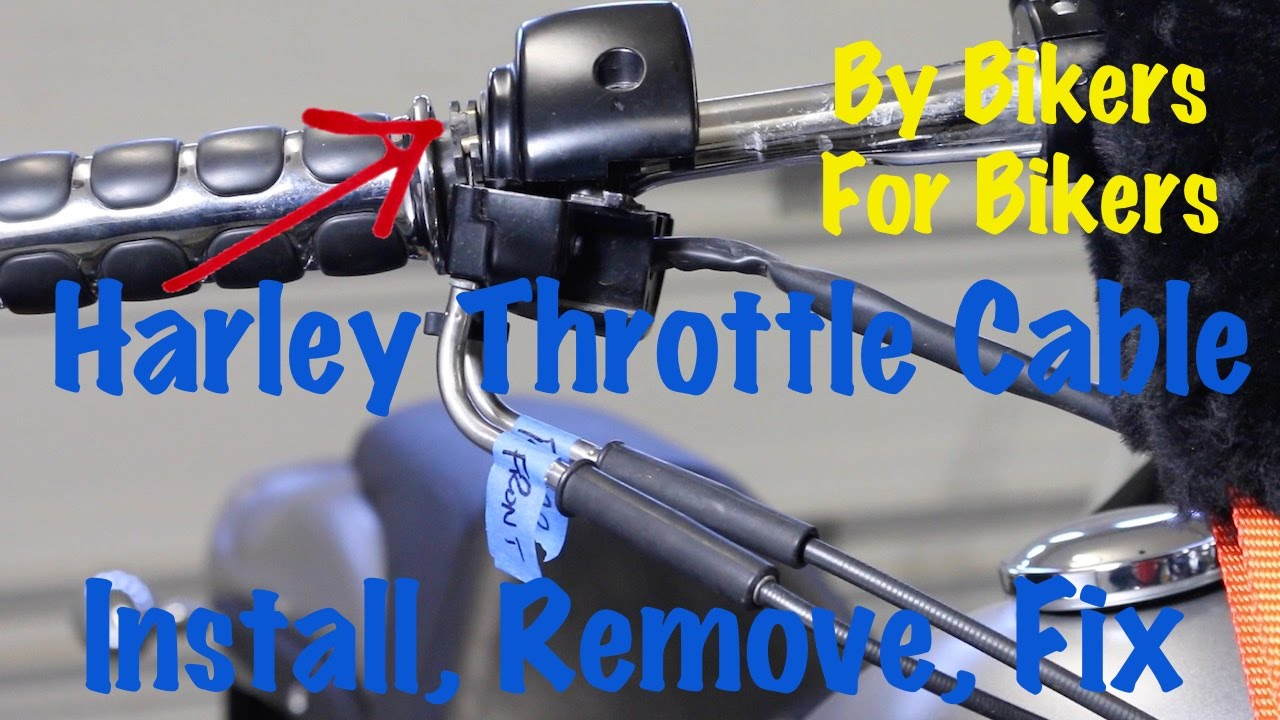 Harley    Davidson    Throttle Cable Install  Remove  Replace