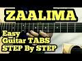 Zaalima Guitar Tabs/Lead Lesson | Raees | Shah Rukh Khan | Arijit Singh | fuZaiL Xiddiqui