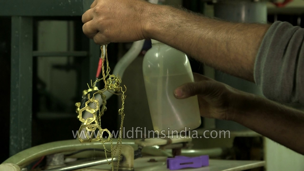 This is how jewellery electroplating is done in India