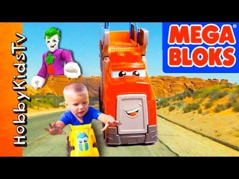 MEGA Bloks RACING Rig! Villains Attack + Quick Sand Dinosaur Stomp Toy Review HobbyKidsTV