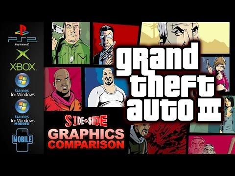Grand Theft Auto 3 | Graphics Comparison | ( PS2 , XBOX, PC , Modded , Mobile )