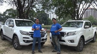 Nissan Navara vs Chevrolet Colorado - Roda Pusing Review
