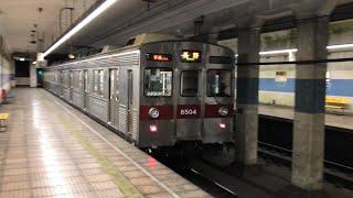長野電鉄8500系T4善光寺下駅発車 Nagano Electric Railway Type 8500 Train Departing Zenkouji-Shita