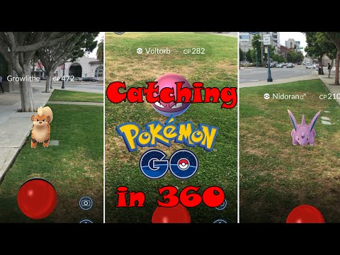 Catching Pokemon GO in 360