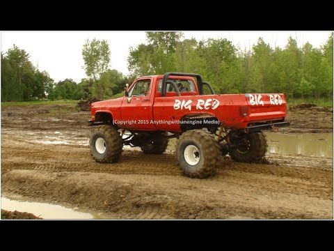 PART TWO MUD TRUCKS PLAY IN THE MUD AT SILVER BULLET SPEEDWAY MUD BOG MAY 31ST, 2015 OWENDALE, MICHI