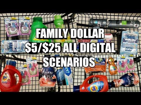 FAMILY DOLLAR $5/$25 ALL DIGITAL SCENARIOS