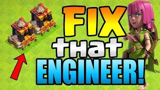 SO THIS HAPPENED, and I DON'T EVEN CARE! Fix that Engineer ep20 | Clash of Clans