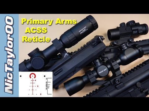 Primary Arms And The ACSS Reticle - Easiest Scopes To Shoot