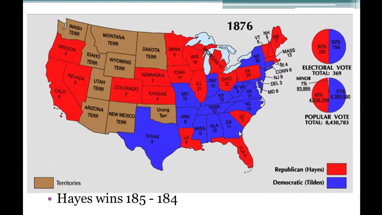should reconstruction have ended in 1876 Will congress or the president manage reconstruction should the south be allowed by 1876, radical republican tilden is seen as the definitive end to.