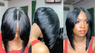 ILLUSION PART QUICKWEAVE STACKED LAYERED BOB FT MY DAUGHTER DASH DOLL (Protective style)